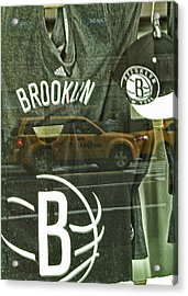 Brooklyn Nets Acrylic Print by Karol Livote