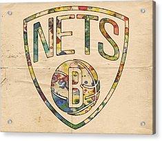 Brooklyn Nets Logo Art Acrylic Print