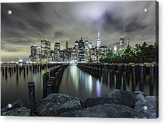 Acrylic Print featuring the photograph Brooklyn On The Rocks  by Anthony Fields