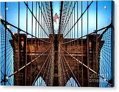 Brooklyn Perspective Acrylic Print by Az Jackson