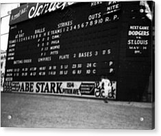 Brooklyn Scoreboard Acrylic Print by Retro Images Archive