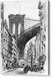 Brooklyn Tenements, C1909 Acrylic Print by Granger