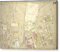 Brooklyn, Vol. 4, Double Page Plate No. 73 Map Bounded Acrylic Print by Litz Collection