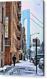 Brooklyn Walk Acrylic Print by Terry Cork