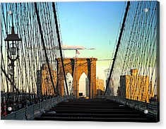 Brooklynbridge Acrylic Print by Frank Savarese