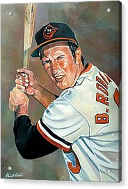 Brooks Robinson Acrylic Print by Michael  Pattison