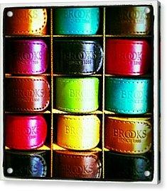 #brookssaddles #colorful #leather Acrylic Print