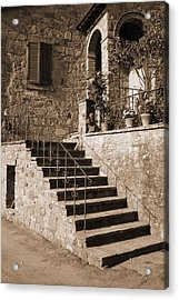 Broom On The Stairs Acrylic Print