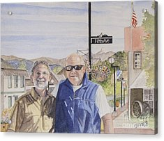 Acrylic Print featuring the painting Bros by Carol Flagg