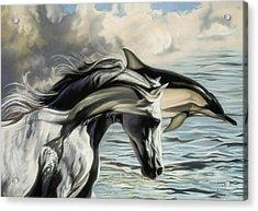 Brother Earth Sister Sea Acrylic Print