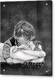 Brotherly Love Acrylic Print by Eric Smith