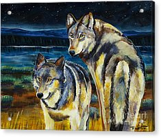 Brothers Acrylic Print by Harriet Peck Taylor