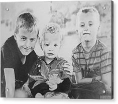 Brothers Acrylic Print by James Obert