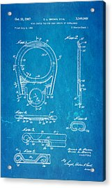 Brown Can Ring Pull Patent Art 1967 Blueprint Acrylic Print