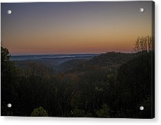 Brown County State Park Nashville Indiana Sunrise Acrylic Print by David Haskett
