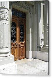 Acrylic Print featuring the photograph Brown Doors by Arlene Carmel