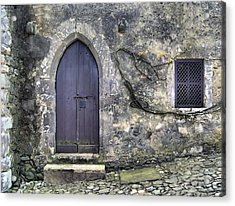 Brown Rustic Wood Door Of Medieval Europe Acrylic Print