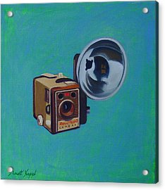 Brownie Box Camera Acrylic Print by The Vintage Painter
