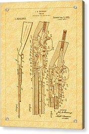 Browning 1922 Firearm Patent Acrylic Print by Barry Jones