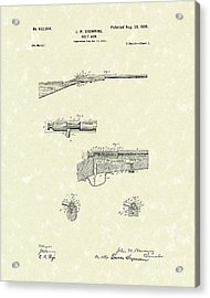 Browning Bolt Gun 1899 Patent Art Acrylic Print by Prior Art Design