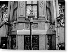 Brownstone In Park Slope Brooklyn In Black And White Acrylic Print by Priyanka Ravi
