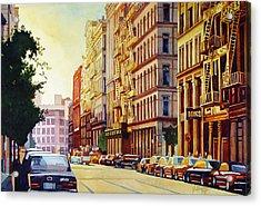 Brownstone Sunset Acrylic Print