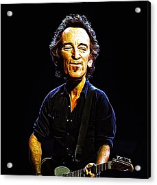 Bruce Acrylic Print by Bill Cannon