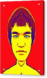 Bruce Lee Alias Acrylic Print by Art Cinema Gallery
