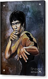 Bruce Lee  Acrylic Print by Andrzej Szczerski