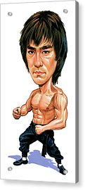 Bruce Lee Acrylic Print by Art