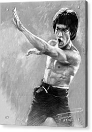Acrylic Print featuring the photograph Bruce Lee by Viola El