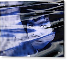 Bruce Lee Be Like Water Acrylic Print by Dan Sproul