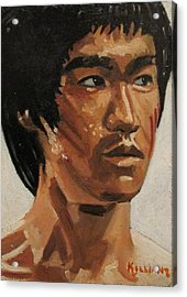 Bruce Lee Acrylic Print by Patrick Killian