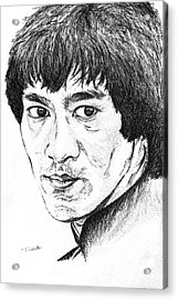 Bruce Lee Acrylic Print by Teresa White