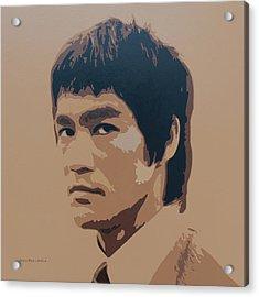 Bruce Lee Acrylic Print by Zelko Radic Bfvrp