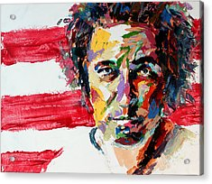 Bruce Springsteen Acrylic Print by Derek Russell