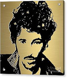 Bruce Springsteen Gold Series Acrylic Print by Marvin Blaine