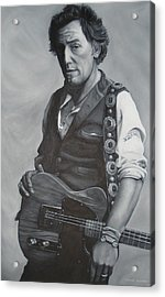 Bruce Springsteen I Acrylic Print by David Dunne