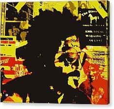 Bruce Springsteen Acrylic Print by Jeff DOttavio