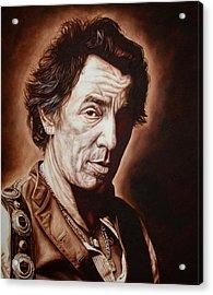 Bruce Springsteen Acrylic Print by Mark Baker