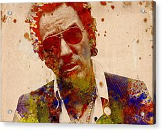 Bruce Springsteen Acrylic Print by Bekim Art