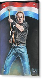 Acrylic Print featuring the painting Bruce Springsteen  by Melinda Saminski