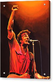 Bruce Springsteen Painting Acrylic Print by Paul Meijering