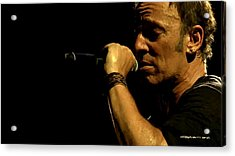 Bruce Springsteen Performing The River At Glastonbury In 2009 - 3 Acrylic Print