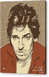 Bruce Springsteen Pop Art Acrylic Print by Jim Zahniser