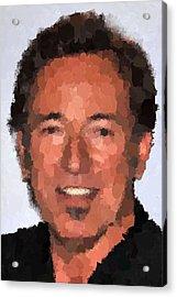 Bruce Springsteen Portrait Acrylic Print by Samuel Majcen