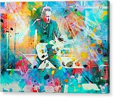 Bruce Springsteen  Acrylic Print by Rosalina Atanasova
