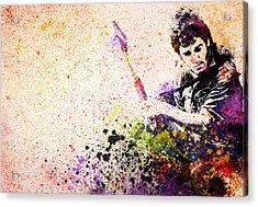 Bruce Springsteen Splats 2 Acrylic Print by Bekim Art