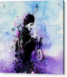 Bruce Springsteen Splats And Guitar 2 Acrylic Print