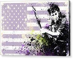 Bruce Springsteen Splats Acrylic Print by Bekim Art